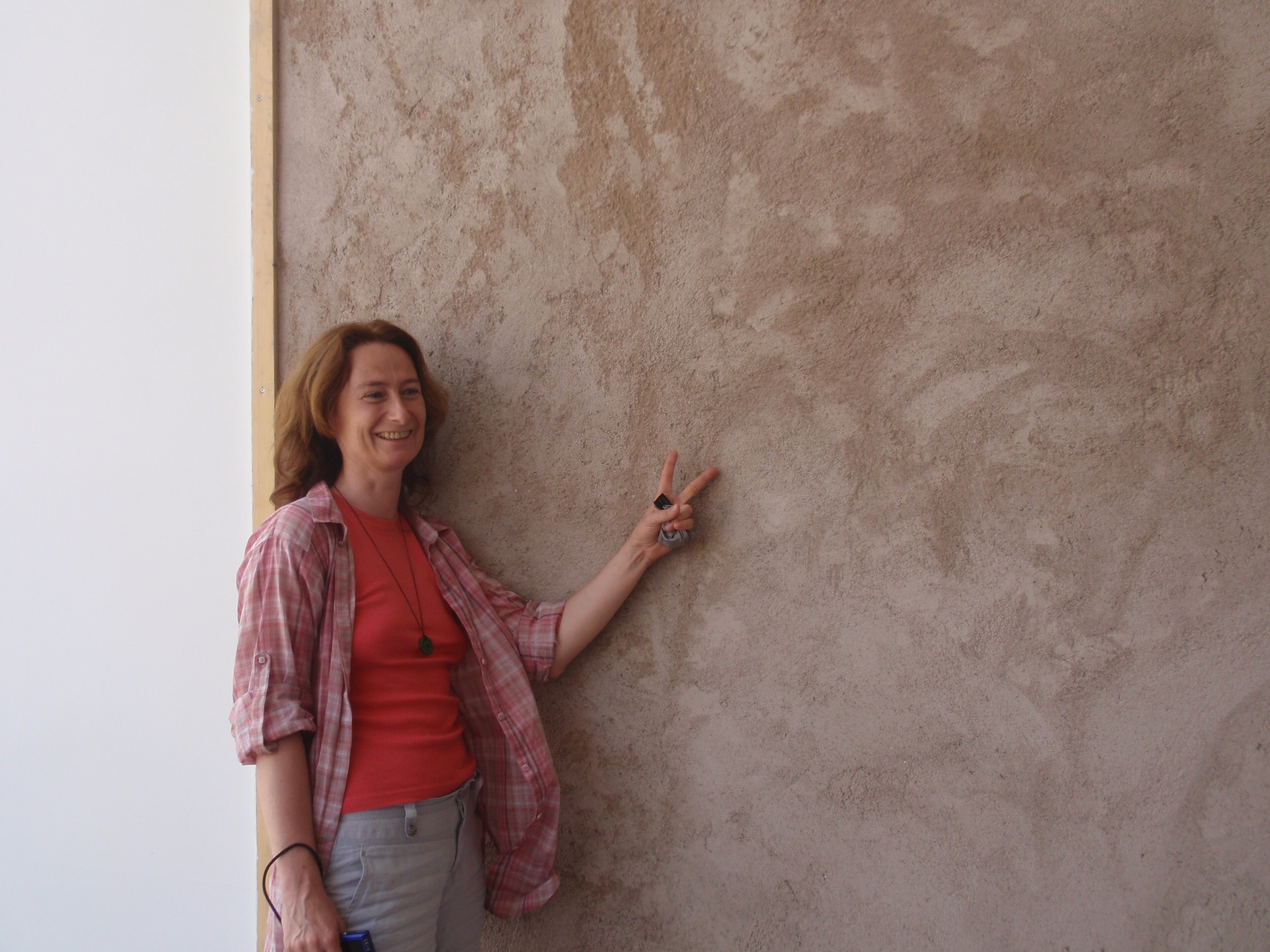 Le mur avec le gobetis