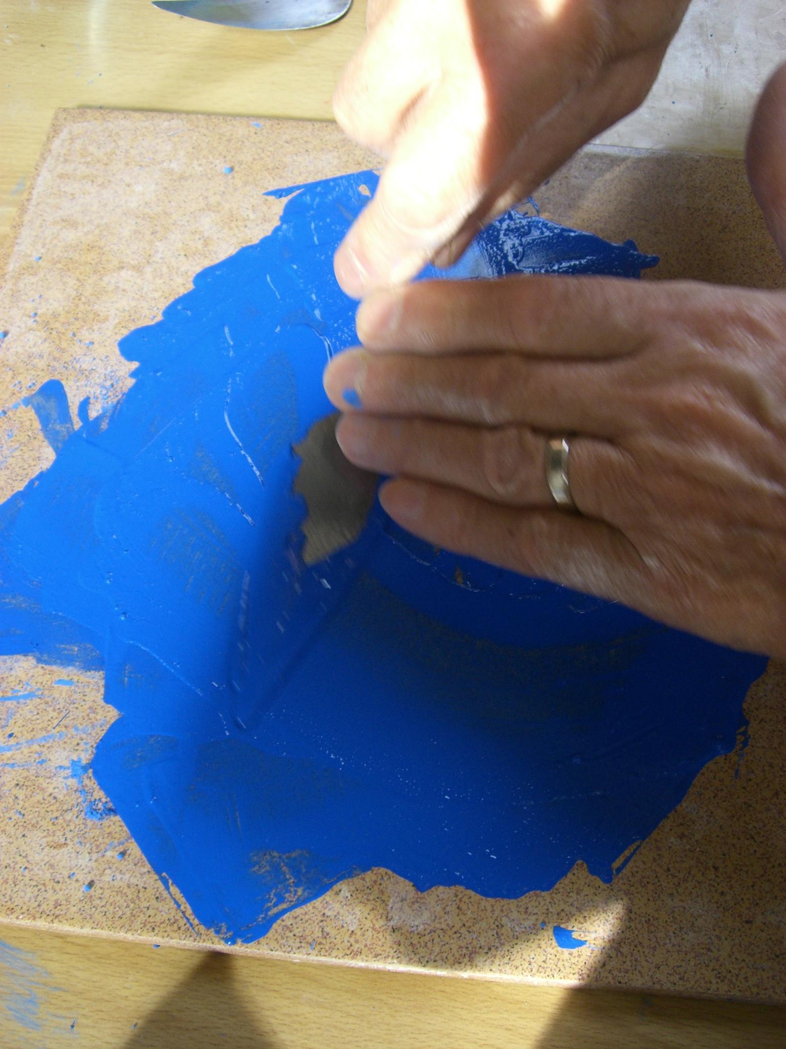 Broyer le bleu de cobalt