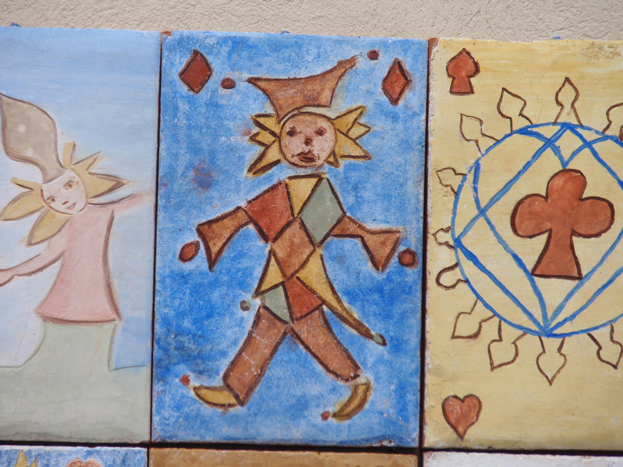 Carte à jouer peinte par Simone
