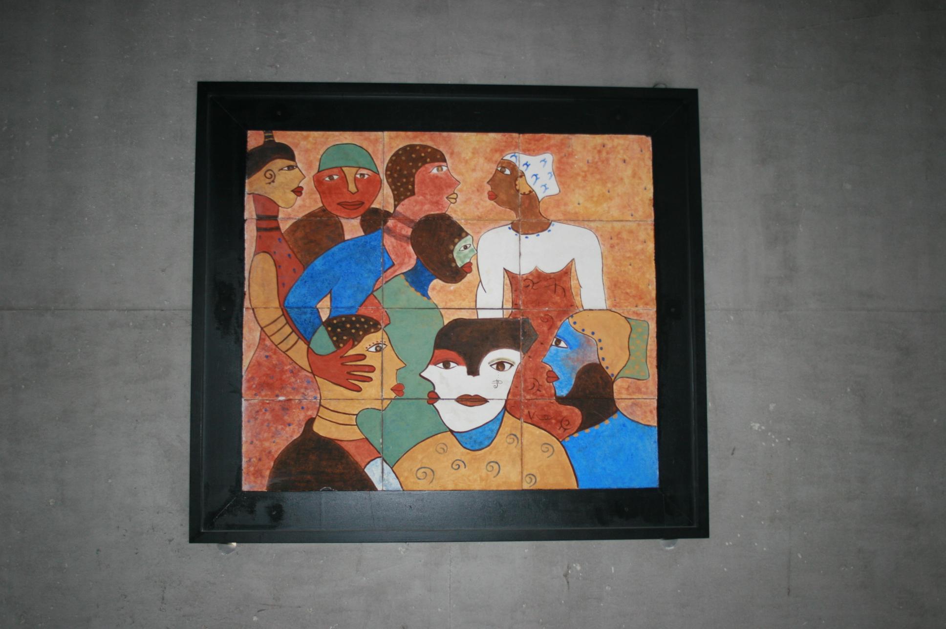 La fresque encadrée au Lycée